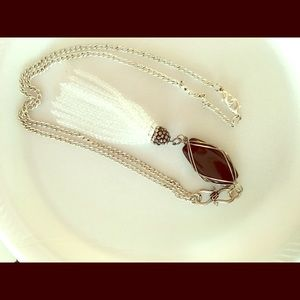 Chain necklace, modern, eclectic, black and white